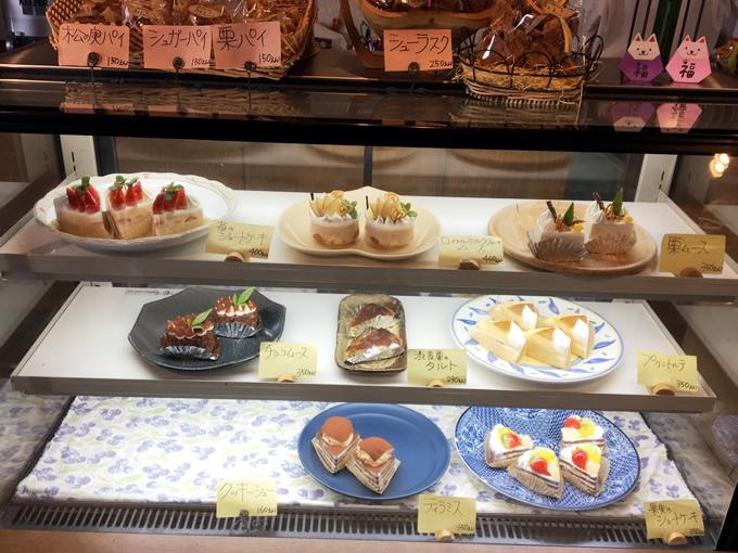熊野町「ふくえどぅ」のケーキ