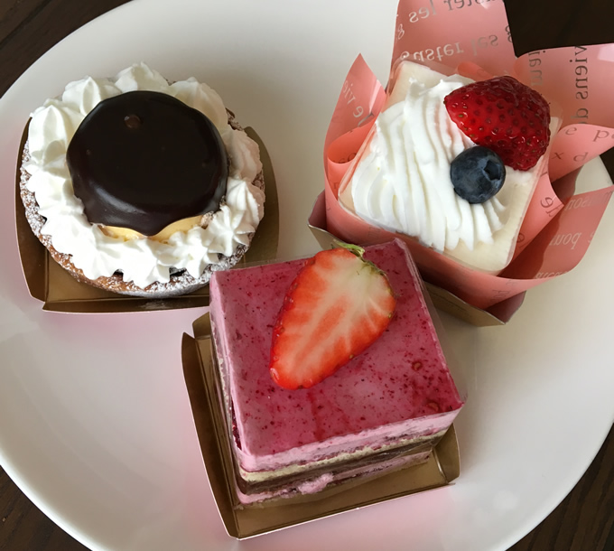 熊野町「Sweet Box」のケーキ